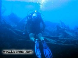 Ancient ship wreck under water off the shore of Batroun, Lebanon discovered by divers. Photos by Najy Cherabieh