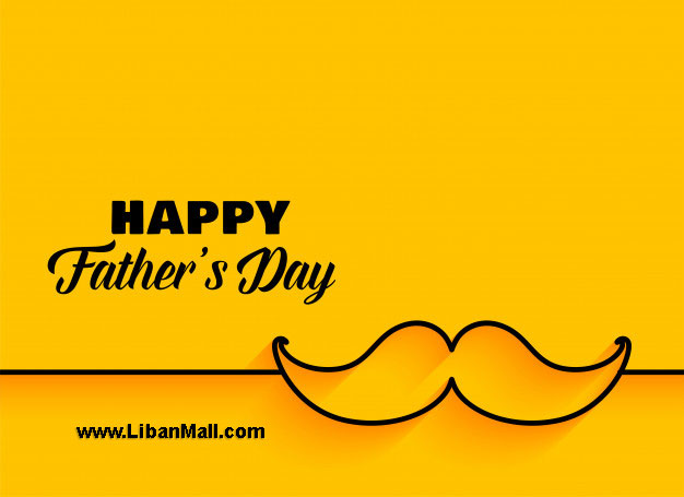 Yellow Happy Fathers day card